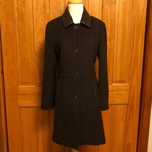 Brown wool and mohair Coach coat. Size small